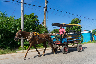 Once you get out of the cities, horse carts are still a primary form of transportation