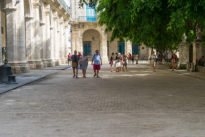 The only street in Cuba paved with wooden blocks