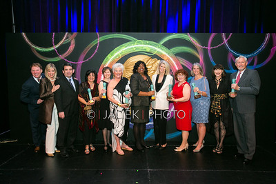 Photo Credit: Jacek Photo. Caption: L-R: Andrew Kato, Rena Blades, William Hayes, Mary Anne Webber, Tracy Butler, Roe Green, Charlene Jones, Nancy Jones, Cynthia Palmieri, Carrie Bradburn, Sharon Koskoff and John  at The Cultural Council of Palm Beach County 2014 Muse Awards at The Kravis Center in West Palm Beach, Fla. on March 13, 2014.