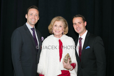 Photo Credit: Jacek Photo. Caption: L-R: Daniel Biaggi, Gladys Benenson and Scott Guzielekat The Cultural Council of Palm Beach County 2014 Muse Awards at The Kravis Center in West Palm Beach, Fla. on March 13, 2014.