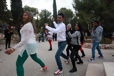 Gujaratis in Bethlehem, Dancing on Christmas