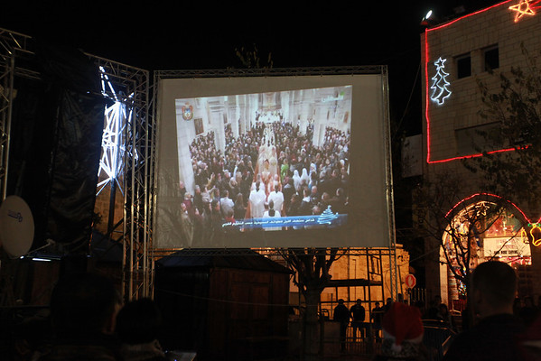 Midnight Mass, televised on Manger Square