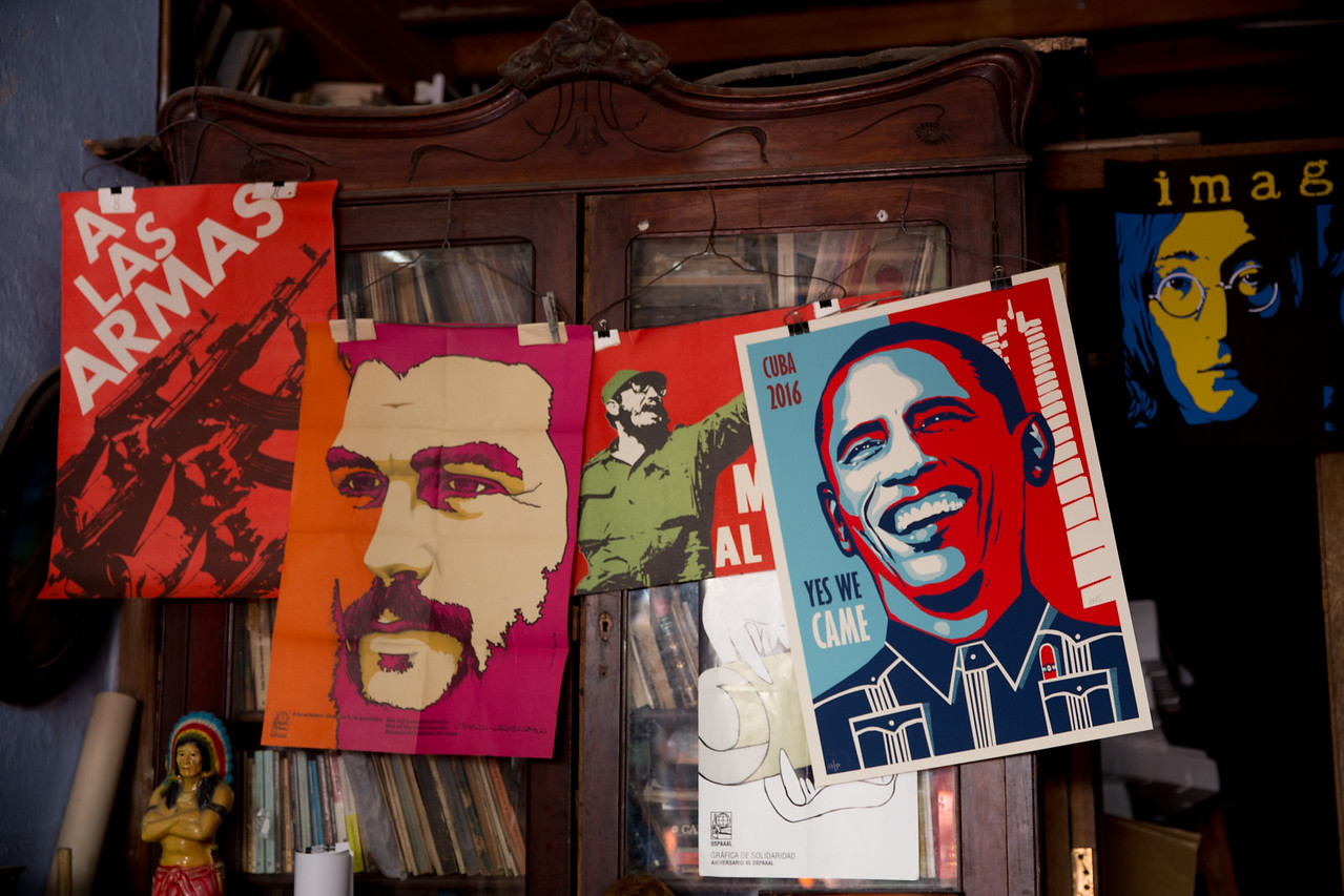 16. Posters in a shop in Havana.