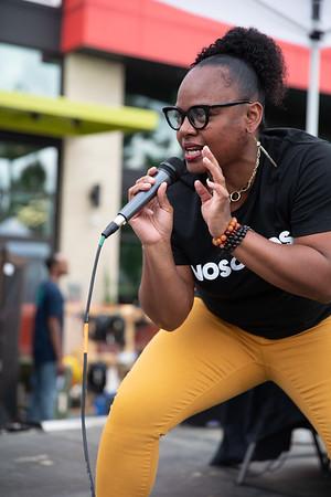 Shakiah performs at the Block Party.