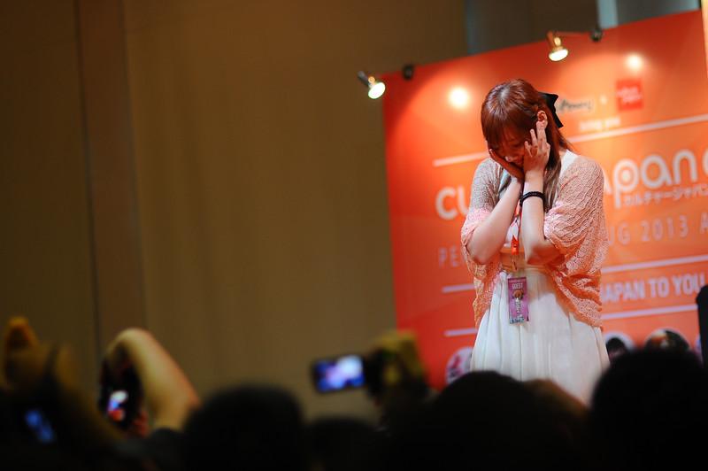 #白羽奈尾 #Dmyo shy shy at #CJC2013 . Thanks to Danny Choo for bringing her over.