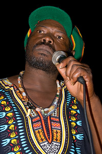 "Poots ""Titiman"" Flores performing live at Culture Sunday in Dangriga Town, Stann Creek, Belize."