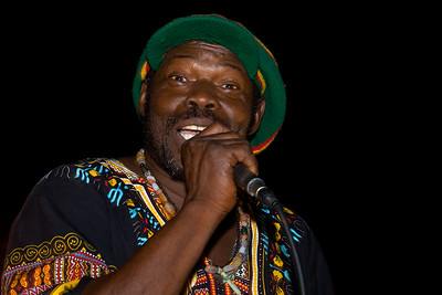 """Poots """"Titiman"""" Flores performing live at Culture Sunday in Dangriga Town, Stann Creek, Belize."""