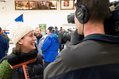 Lisa doing her post win interview