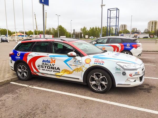 auto24 Rally Estonia organisers car