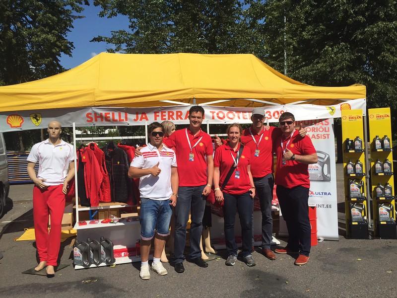 Priit Pall, Jan Reichel, Maria Heindler, Winfred Gorisson, Stig Rogenbaum Rally Estonia Expo alal