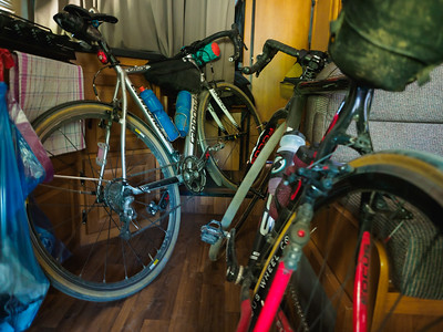 Dirty bikes in the RV