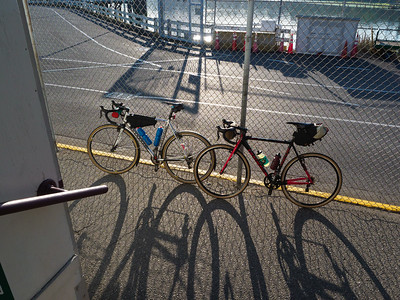 In line for the ferry