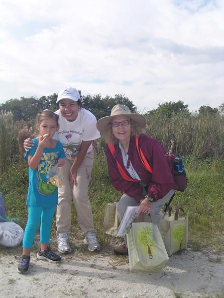<b>Pauline's granddaughter Jewelia Nelson with Diana Wilson and Chris Lockhart</b> <b>Marshall Foundation Cypress Harvest</b>  October 26, 2013 <i>- Pauline Stacey</i>