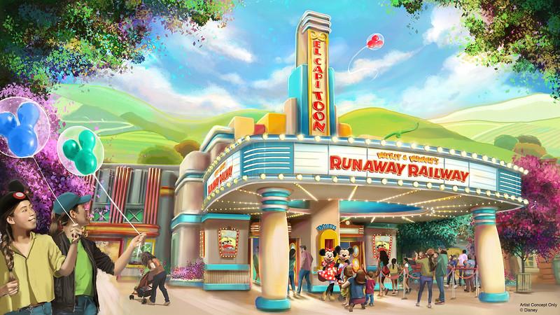 Mickey & Minnie's Runaway Railway at Disneyland