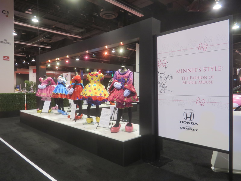 MINNIE'S STYLE on display at #D23Expo includes costumes plus pink Honda 'Minnie Van'