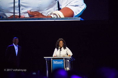 Oprah recognized for her contribution to the arts and philanthropy.