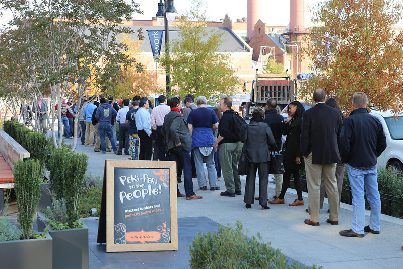 Opening night at the Blue Jacket Brewery and Arsenal Restaurant in Washington DC, Yards Park.