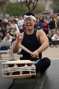 The historic exhibit Colorful Realm: Japanese Bird-and-Flower Paintings by Ito Jakuchu (1716–1800) opened at the National Gallery of Art.  On March 31, 2012, visitors sitting on the steps to the gallery enjoyed a free concert by Taiko Drummers. Taikoza Japanese Taiko Drums & Dance  from New York City. (Photo by Jeff Malet)