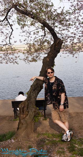 Jim posing agaist a tree