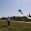 Jim flying a kite