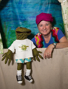 """Puppet show Team Green World.org - Puppeteer Cool Kat from Nashville Tn. Team Green World is a Virginia non-profit organization that teaches children and their parents how to """"Think Ecologically"""" through fun."""