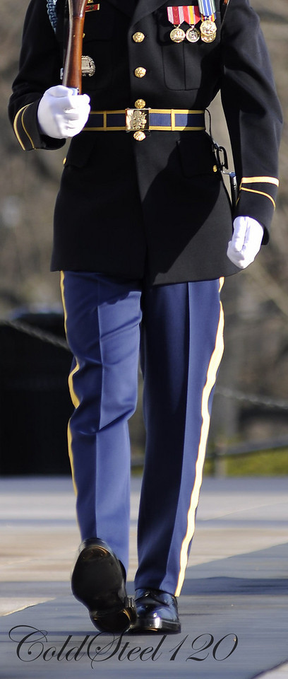 Twenty-one steps in each direction is the length of the honor guards' patrol at the Tomb of the Unknown Soldier at Arlington National Cemetery in Arlington, Va.