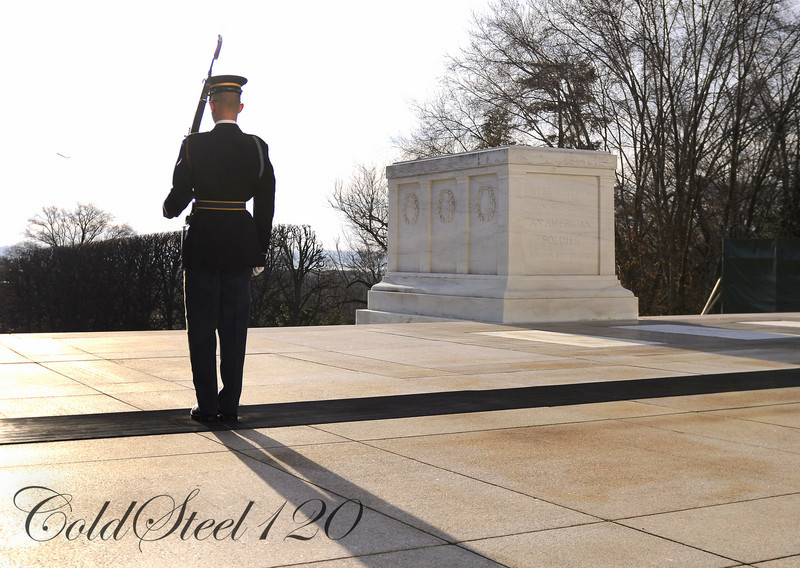 The honor guard on duty paces 21 steps and then faces the tomb for 21 seconds; a reference to the 21-gun salute given to fallen soldiers, at the Tomb of the Unknown Soldiers in Arlington, Va.