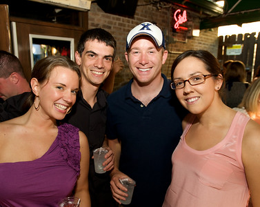 Rosie Swan of Hyde Park, Nick Rosati of Oakley, Andy Busch of IN and Emily Kenney of Hyde Park at Mt. Lookout Tavern for the DERF Happy Hour