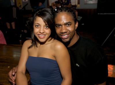 Liz Seda and Ahmad Muslim of Cincinnati  at Mt. Lookout Tavern for the DERF Happy Hour