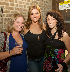 Stephanie Brown, Kristy Beagle and Erin Gore of Cincinnati at Mt. Lookout Tavern for the DERF Happy Hour