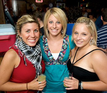 Brittany Hayslip, Megan Jackson and Ali Slaughter of Cincinnati  at Mt. Lookout Tavern for the DERF Happy Hour