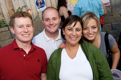 Bill Bash, Derek Werk, Katrina Palmer and Kim Masten of Cincinnati  at Mt. Lookout Tavern for the DERF Happy Hour