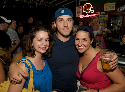 Rachel Medovich, Josh Gritton and Kate Gossman of Cincinnati  at Mt. Lookout Tavern for the DERF Happy Hour