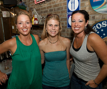 Kelly Murphy of the East Side, Michelle Couch from the West Side and Julie Italiano of the East Side at Mt. Lookout Tavern for the DERF Happy Hour