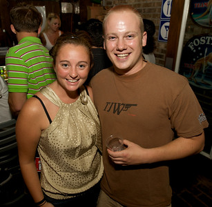 Jenna and Jim of Cincinnati  at Mt. Lookout Tavern for the DERF Happy Hour