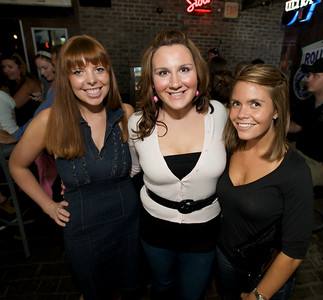 Kristin Waldvogel of Western Hills, Sarah Ohman and Lauren Michalos of Hyde Park  at Mt. Lookout Tavern for the DERF Happy Hour