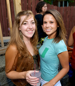 Christina Conrad and Sara Julnes of Mt. Lookout  at Mt. Lookout Tavern for the DERF Happy Hour