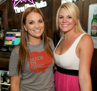 Jen and Katy at Mt. Lookout Tavern for the DERF Happy Hour
