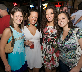 Lisa Davis, Chandra Rhodes, Chelsea Rhodes and Kristin Nuscher of Cincinnati  at Mt. Lookout Tavern for the DERF Happy Hour