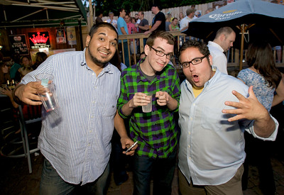 Ketan Raturi, Josh Roberts and Mark Borison  at Mt. Lookout Tavern for the DERF Happy Hour