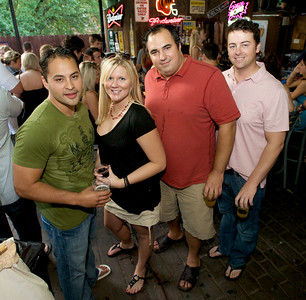 Alex Reeves, Lauren Lay, Zac Paul and Dave Hornberger  at Mt. Lookout Tavern for the DERF Happy Hour