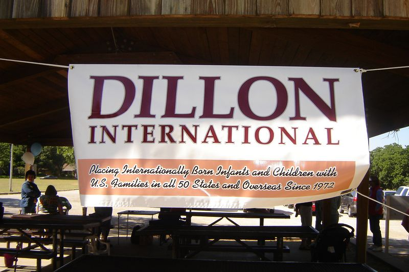 DFW Dillon Day in Arlington, 4-30-05(My dad made the beautiful banner-Impact Sign and Banner in Stephenville Texas)