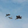 F-16, WWII fighter, and F-22