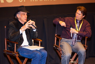Ed Lachman discusses his career after a screening of 'Far From Heaven' at the 2016 Dallas International Film Festival. John Wildman (R) moderated the Q&A. The screening took place at the Alamo Drafthouse DFW. (Photo by Sam Hodde)