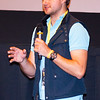 Parker Smitherman, from Southern Methodist University, answers questions about his film 'Lucky' after the North Texas College Shorts Showcase at the 2016 Dallas International Film Festival. The screening took place at the Alamo Drafthouse DFW. (Photo by Sam Hodde)