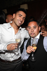 LOS ANGELES, CA - MAY 12:  Recording artist Jay Sean (L) and DJ E-Man attend E-Man's birthday celebration at The Writer's Room on May 12, 2012 in Los Angeles, California.  (Photo by Chelsea Lauren/WireImage)