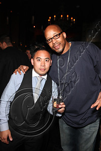 LOS ANGELES, CA - MAY 12:  DJ E-Man (L) and rapper Warren G. attend E-Man's birthday celebration at The Writer's Room on May 12, 2012 in Los Angeles, California.  (Photo by Chelsea Lauren/WireImage)