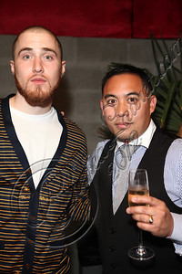 LOS ANGELES, CA - MAY 12:  Recording artist Mike Posner (L) and DJ E-Man attend E-Man's birthday celebration at The Writer's Room on May 12, 2012 in Los Angeles, California.  (Photo by Chelsea Lauren/WireImage)