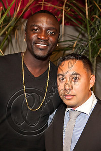 LOS ANGELES, CA - MAY 12:  Recording artist Akon (L) and DJ E-Man attend E-Man's birthday celebration at The Writer's Room on May 12, 2012 in Los Angeles, California.  (Photo by Chelsea Lauren/WireImage)