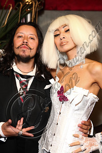 LOS ANGELES, CA - MAY 12:  Actors Carlos Ramirez (L) and Bai Ling attend E-Man's birthday celebration at The Writer's Room on May 12, 2012 in Los Angeles, California.  (Photo by Chelsea Lauren/WireImage)